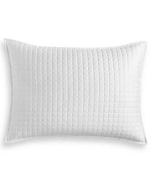 Hotel Collection Basic Grid Quilted King Sham, Created for Macy's