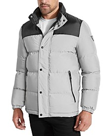 Men's Colorblocked Reflective Puffer Jacket