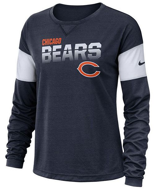 Nike Women's Chicago Bears Breathe Long Sleeve Top