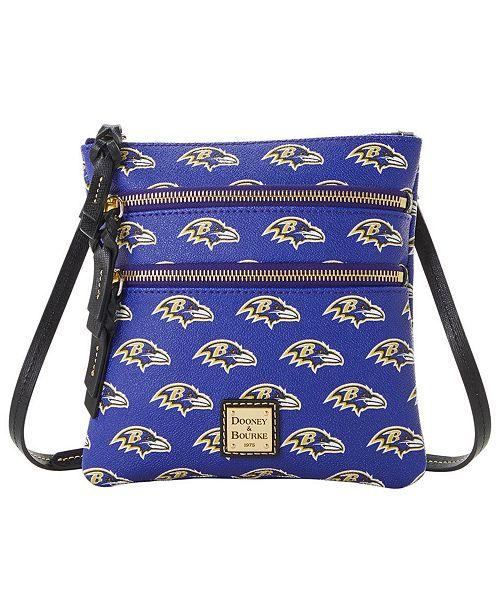 Dooney & Bourke Baltimore Ravens Saffiano Triple Zip Crossbody