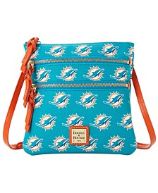 Miami Dolphins Saffiano Triple Zip Crossbody