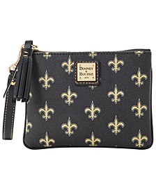 New Orleans Saints Saffiano Stadium Wristlet