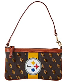 Pittsburgh Steelers Stadium Signature Large Slim Wristlet