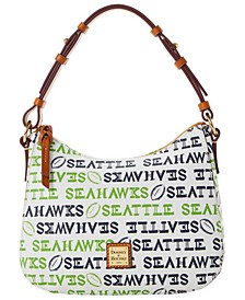 Seattle Seahawks Doodle Small Kiley Hobo