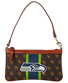 Seattle Seahawks Stadium Signature Large Slim Wristlet