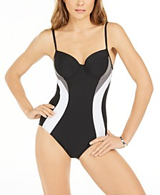 Colorblocked Underwire One-Piece Swimsuit