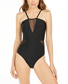 Mesh-Accent One-Piece Swimsuit