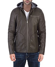 Moto Jacket with Removable Hoodie