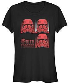 Women's Rise of Skywalker Sith Trooper Helmet Box Up T-Shirt