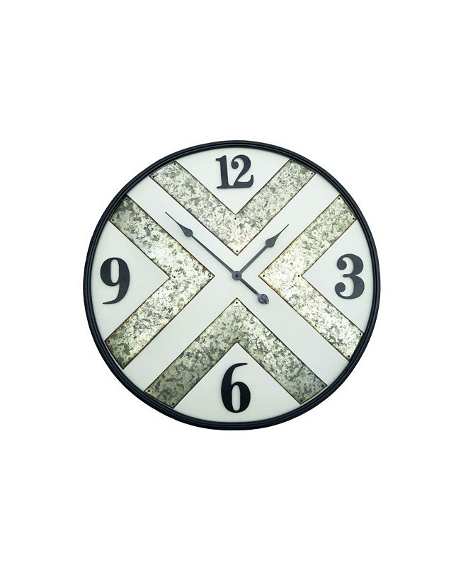 Peterson Artwares Iron Frame Wall Clock with Kirsite Background