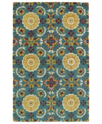 Global Inspirations GLB06-78 Turquoise 2' x 3' Area Rug