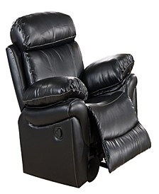 Rocking Recliner Chair with Faux Leatherette Upholstery