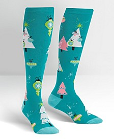 Knee High Holly Jolly Christmas Socks