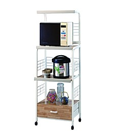 Commodious Kitchen Shelf On Casters