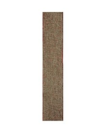 """2.5"""" Beige Burlap and Red Trim Wired Christmas Craft Ribbon"""