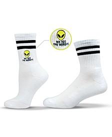Unisex Weird Alien Crew Socks