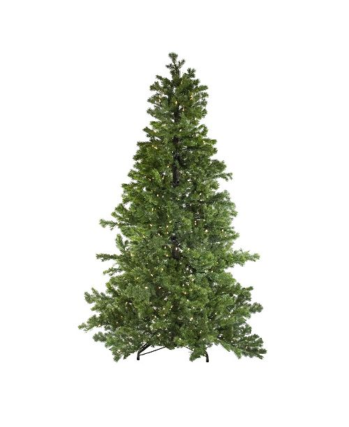 Northlight 7.5' Layered Pine Instant Power Artificial Christmas Tree - Dual Color LED Lights