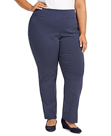 Plus Size Printed Tummy-Control Pants, Created For Macy's
