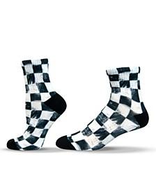 Unisex Skate Style Checkered Quarter Socks