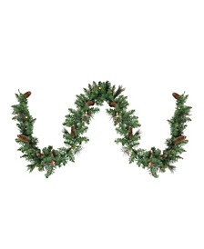 9' Green Pre-lit Yorkville Pine Artificial Christmas Garland - Clear Lights