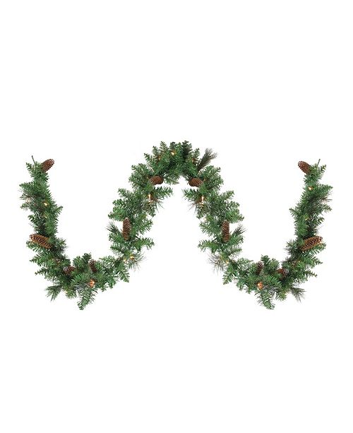 Northlight 9' Green Pre-lit Yorkville Pine Artificial Christmas Garland - Clear Lights