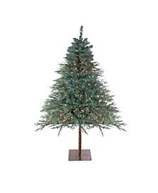 7.5' Pre-Lit Fairbanks Alpine Artificial Christmas Tree - Clear Lights