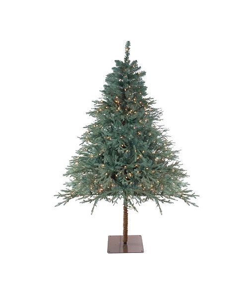 Northlight 7.5' Pre-Lit Fairbanks Alpine Artificial Christmas Tree - Clear Lights