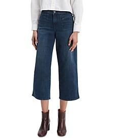 Women's Classic Cropped Wide-Leg Jeans