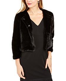 Faux-Fur Bolero Jacket