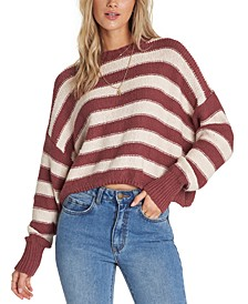 Juniors' Till Sunset Cotton Cropped Sweater