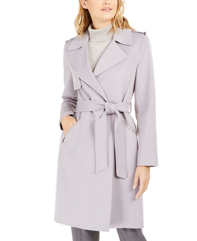 Michael Kors Double-Face Wrap Coat