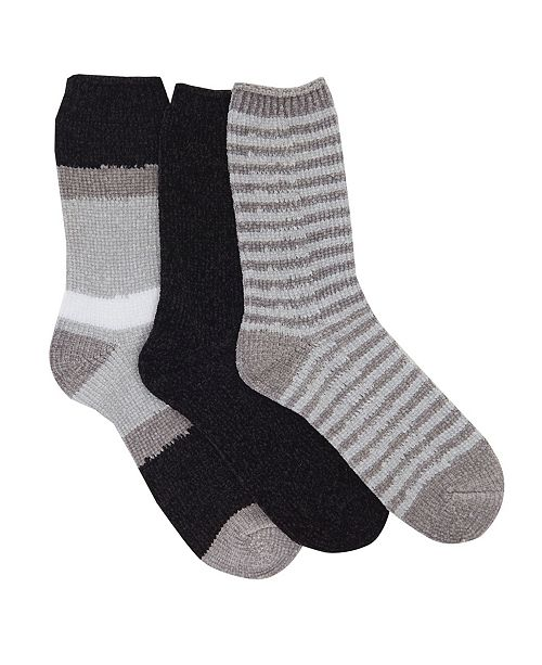 Brookstone Chenille Sock, 3 Pack