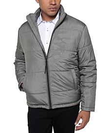 Men's Camo Print Puffer Jacket