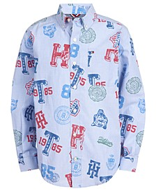 Big Boys Collegiate Logo-Print Shirt
