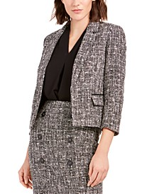 Tweed Open-Front Jacket, Created For Macy's