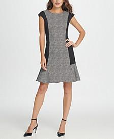 Colorblock Millenium Flounce Shift Dress
