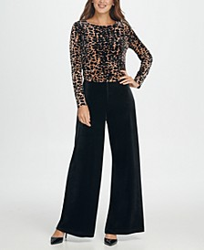 Velvet Animal Combo Jumpsuit