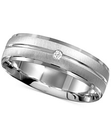 Men's Diamond Accent Band in 14k White Gold