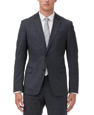 Men's Slim-Fit Windowpane Suit Jacket Separate