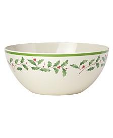 Lenox Holiday Holiday Melamine Serving Bowl