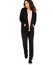 French Terry Hoodie, Burnout Top & Tie-Waist Joggers, Created for Macy's