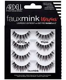 Faux Mink Lashes -Wispies 4-Pack
