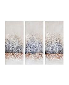 Madison Park Twilight Mystere Hand Brush Embellished Canvas, Set of 3