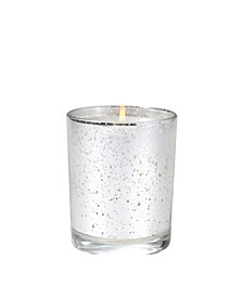 White Teak Metallic Candle