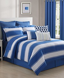 Cabana Stripe 4-Piece Full Comforter Set