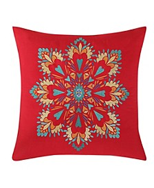 "Boho Medallion 18"" x 18"" Decorative Pillow"