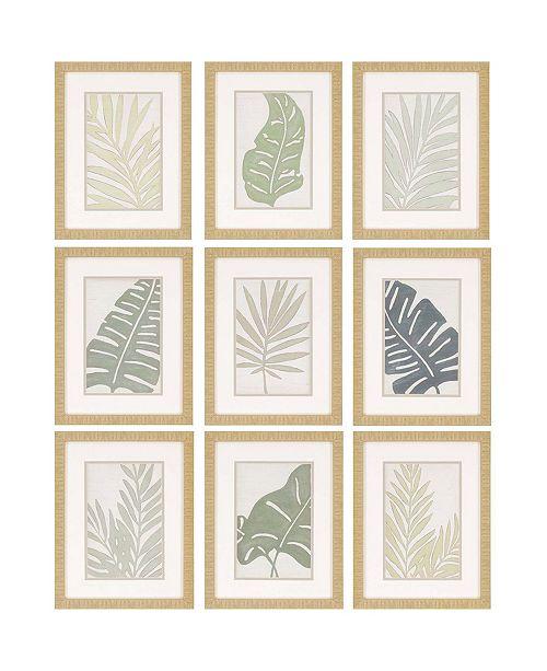 "Paragon Verdant Framed Wall Art Set of 9, 18"" x 14"""