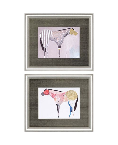 "Paragon Horses II Framed Wall Art Set of 2, 20"" x 24"""