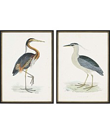 "Herons Framed Wall Art Set of 2, 30"" x 22"""