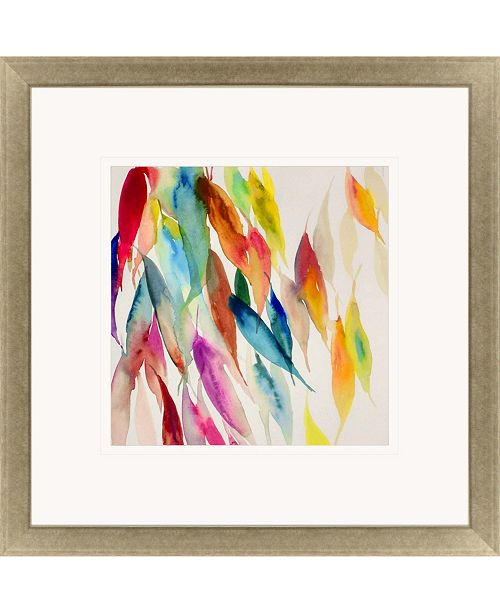 """Paragon Fallen Colorful Leaves I Framed Wall Art, 43"""" x 43"""""""